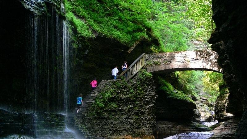 waterfall in Watkins Glen