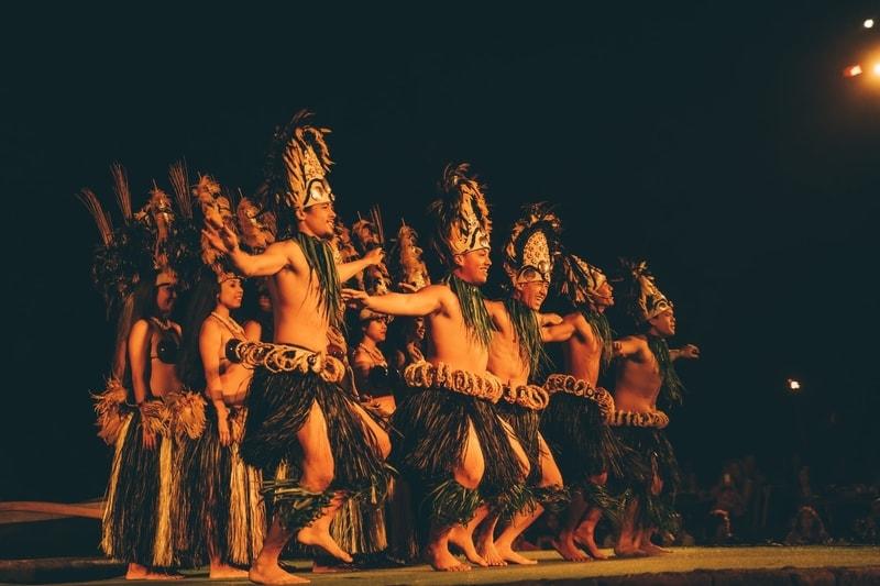 Dancers at a luau in Hawaii