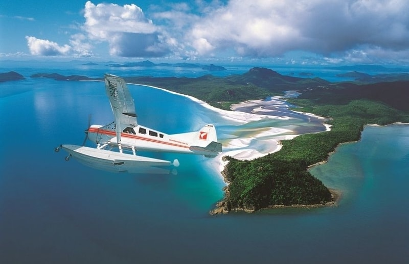 Soaring over The Whitsundays By Seaplane