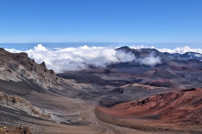 Volcano Haleakala National Park in Maui, Hawaii
