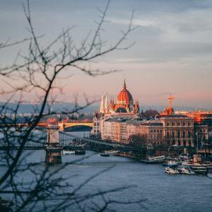 Boat cruise down Danube river Budapest