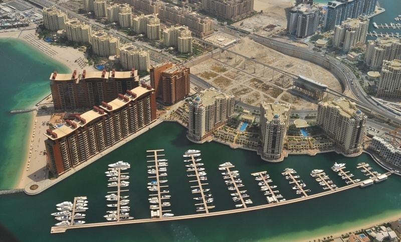 Aerial view of Jumeirah in Dubai