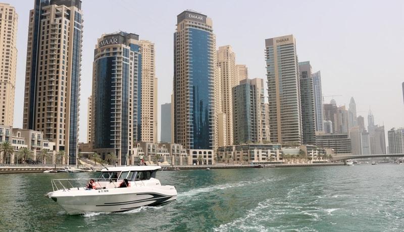 Boat tour in downtown Dubai