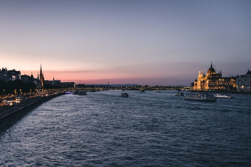 Boat trip in Budapest