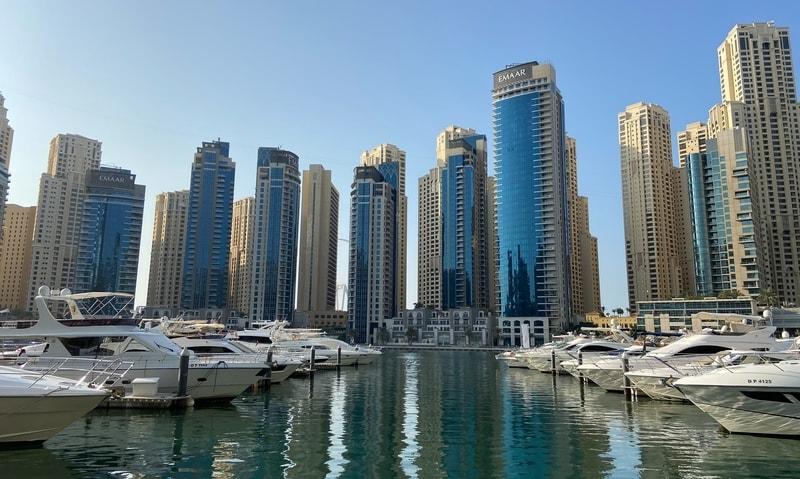 Boats at Dubai Marina