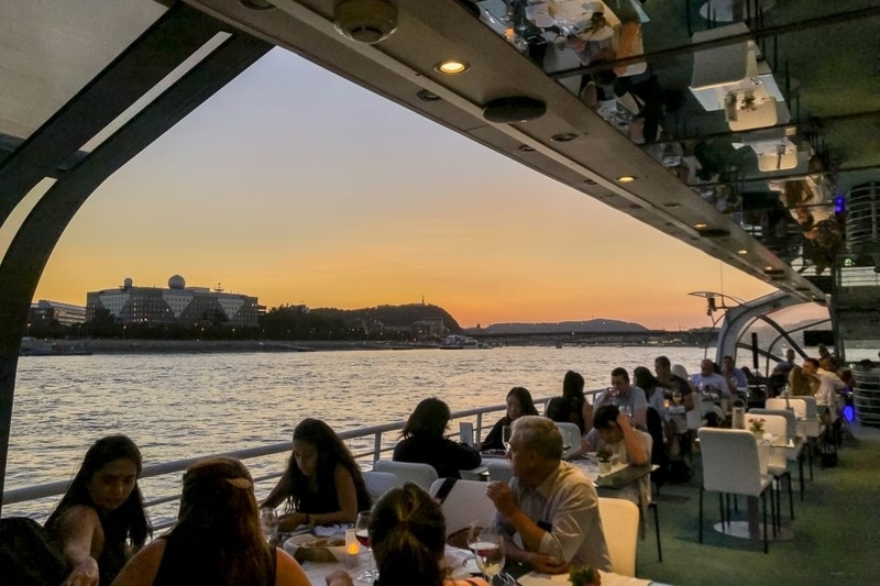 Candelit dinner along Danube river