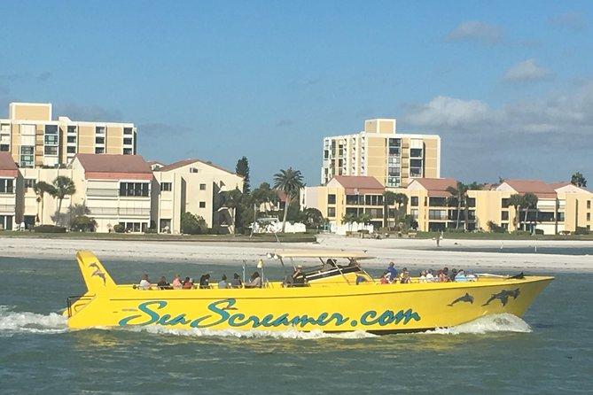 Screamer boat trip in Clearwater Beach