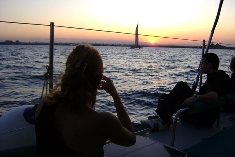 sunset and dinner on malaga boat trip