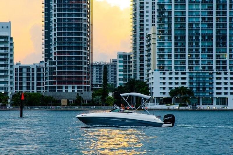 Miami sunset boat cruise
