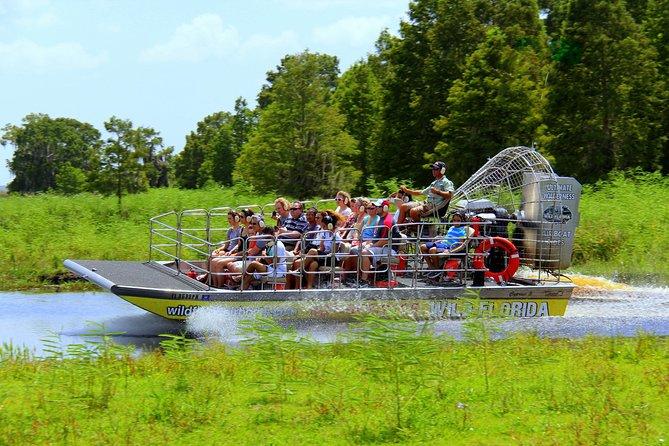 Speedboat in Central Florida Everglades